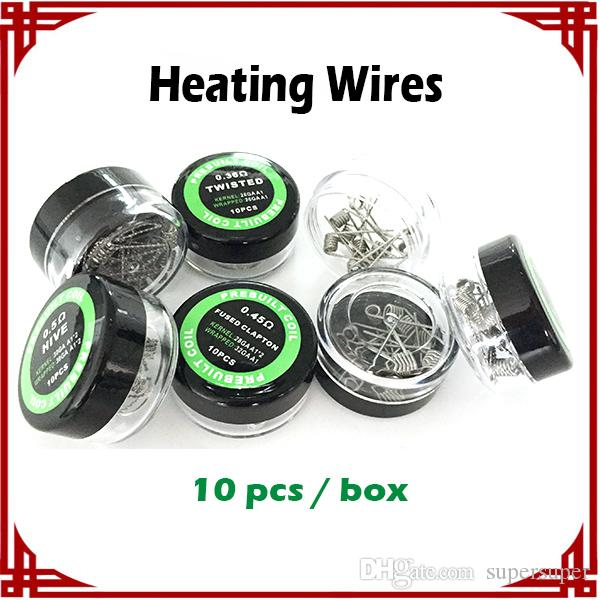 [ sp ] Flat twisted wire Fused clapton coil Heating Wires Alien Wires Mix twisted Quad Tiger Wiresr 9 Different Heating Resistance 10pcs/box