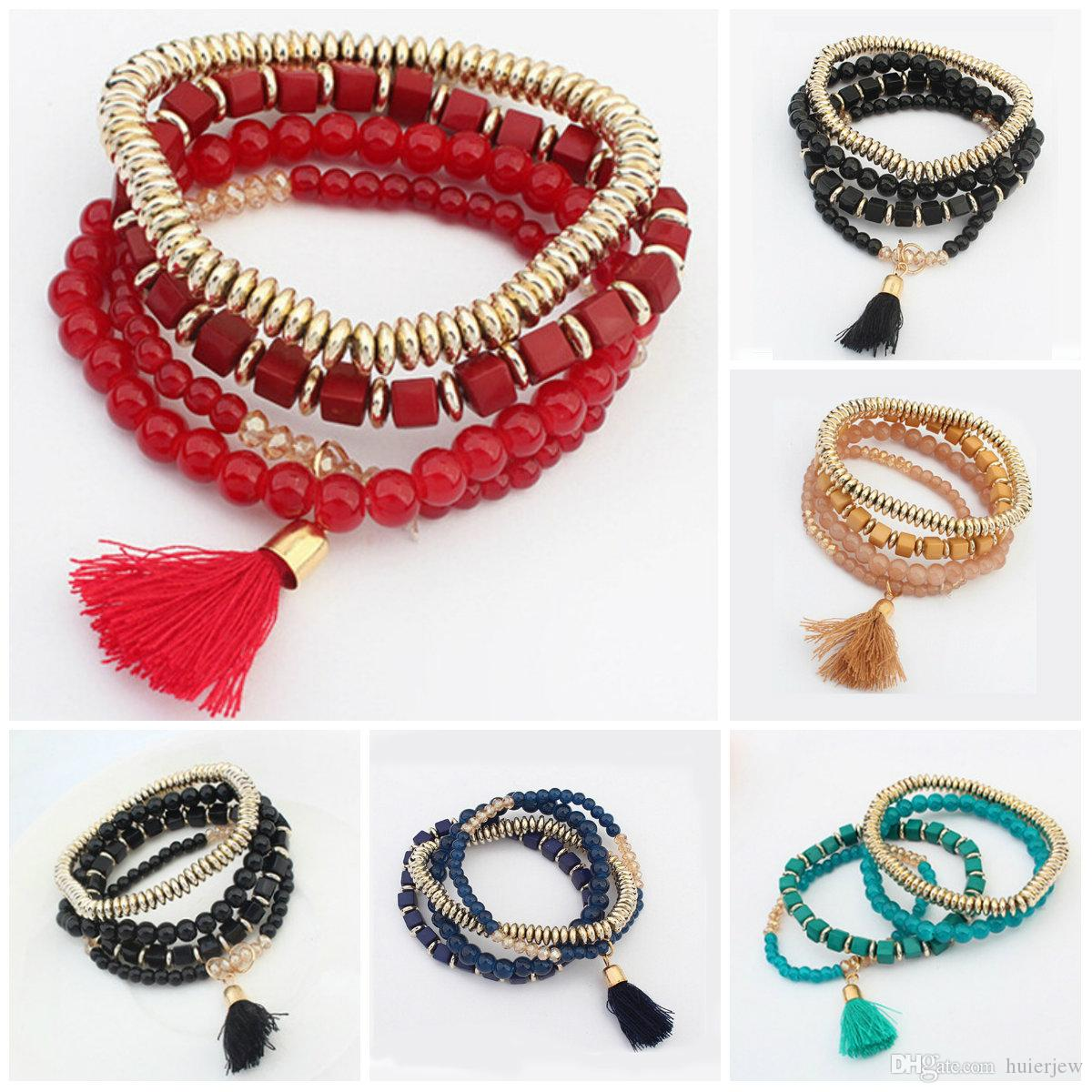 bf2966060b Cheap One Direction Wristband Bracelets Wholesale Pearl Band Bracelet