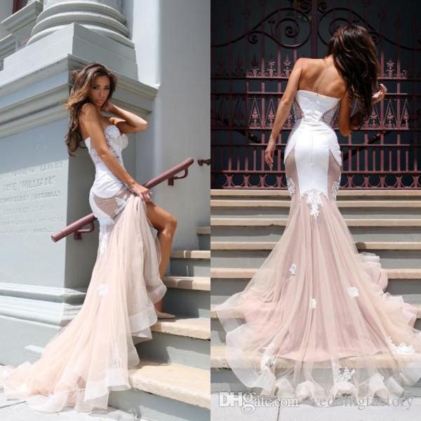 compre elegantes vestidos formales de noche atractivo de la parte