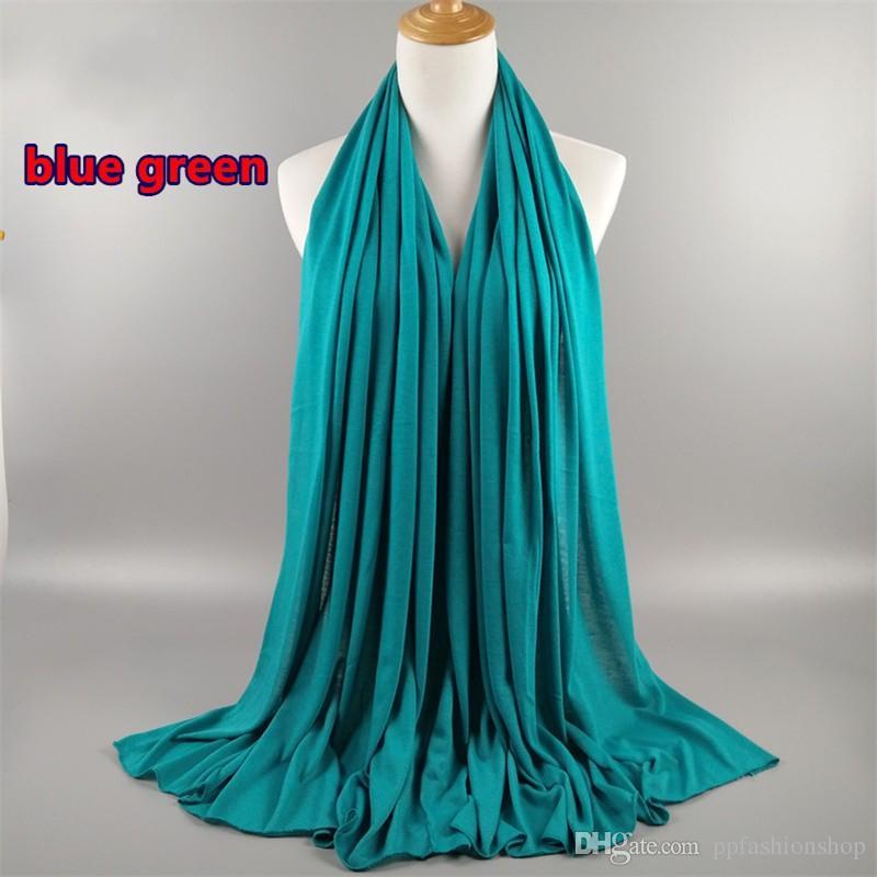 es de color sólido jersey bufandas suave y cómodo clásico salvaje otoño e invierno cálido bufandas musulmanes Hijab