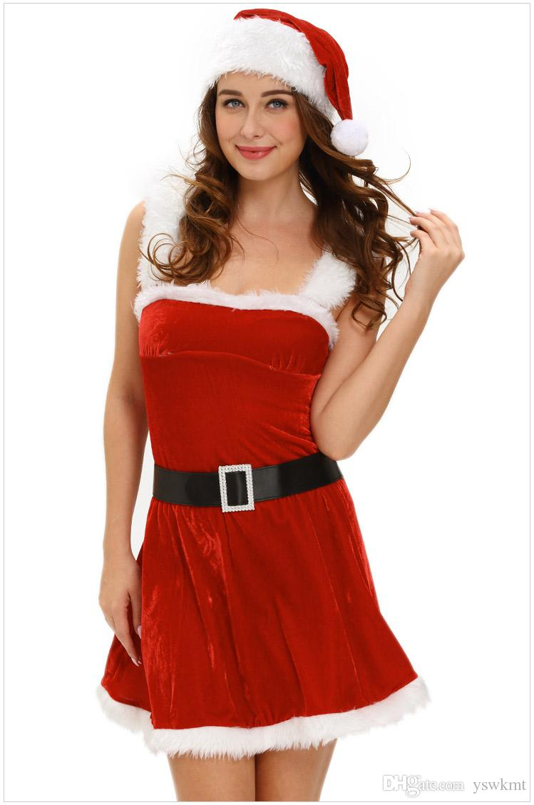 good quality sexy red dress christmas party wear fancy