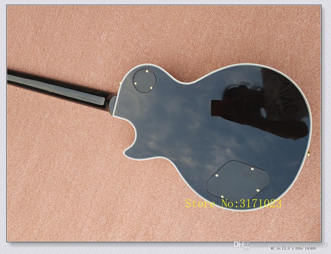 Nova Guitarra Elétrica feita sob encomenda preto Guitarra de Rosewood fingerboard atacado guitarras da china