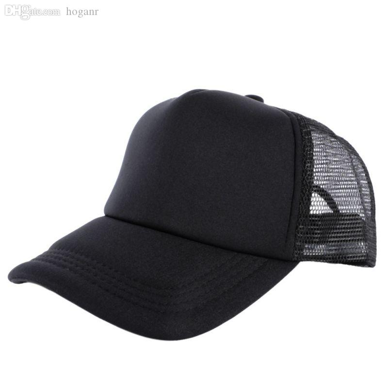 e480a2bf558 Wholesale Cozy Unisex Attractive Casual Men Women Summer Hat Solid Baseball  Cap Trucker Mesh Blank Visor Hats Adjustable Hats And Caps Skull Caps From  ...