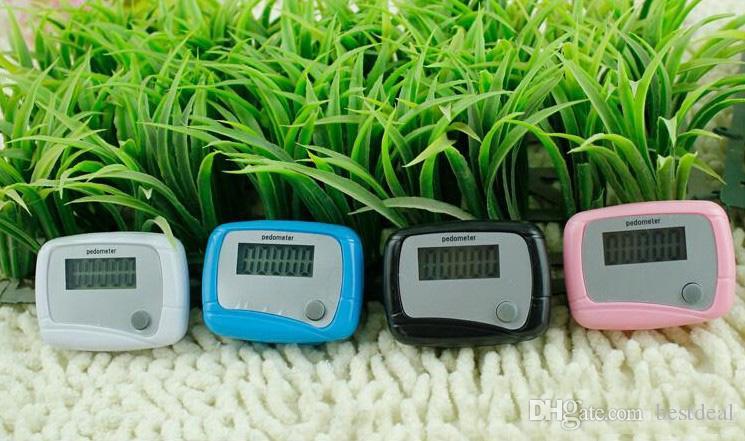 ホットセールス4色新しい小型LCD歩数計繊細なカロリー歩いて歩いて距離計算