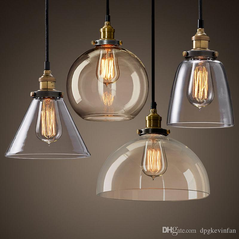 New modern vintage industrial retro loft glass ceiling lamp shade new modern vintage industrial retro loft glass ceiling lamp shade pendant light five styles for kitchen island glass pendant light clear glass pendant aloadofball