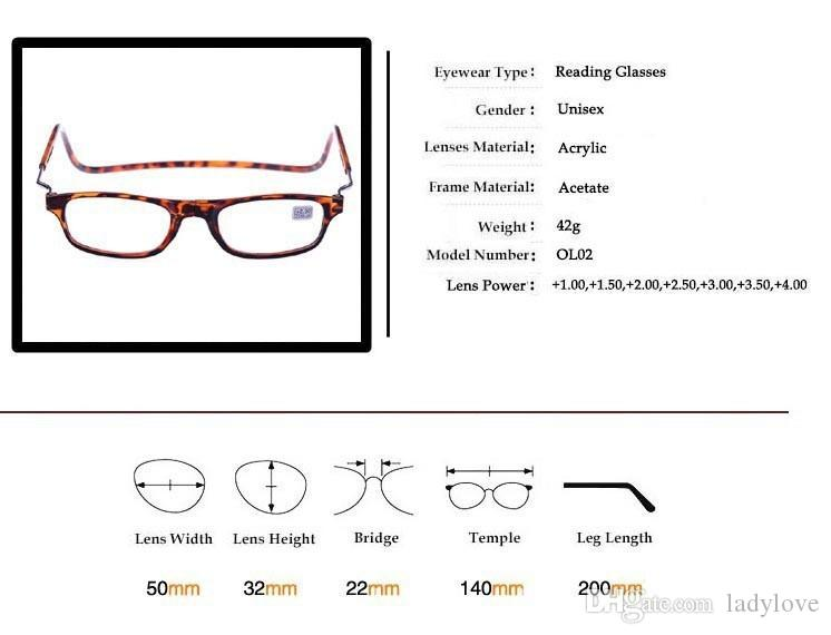 e0c9b6cd7ec Wholesale-Magnetic Reading Glasses With Diopter +1.0 +1.5 +2.0 +2.5 ...
