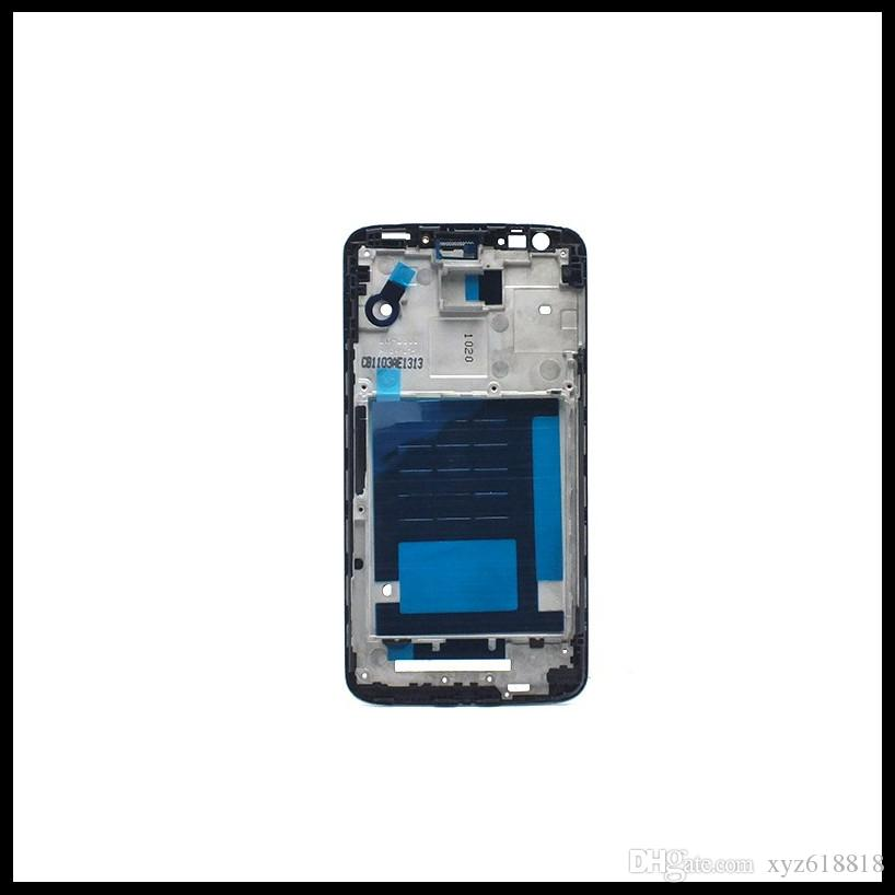 New Original Middle Front Frame Bezel Housing LCD Screen Holder Frame Repair Parts+Adhesive for LG G2 D800 D801 D802