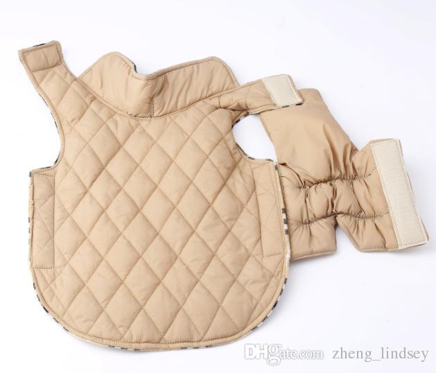 Mode Plaid Winter Hundemäntel Haustier Kleidung Für Kleinen Hund Chihuahua Outdoor Wasserdichte Große Hund Jacke