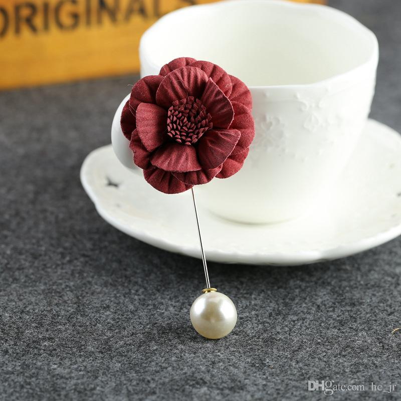 Korea corsage brooch original fabric flowers fresh long coat jacket pin brooch unisex floral flower retro fashion accessories