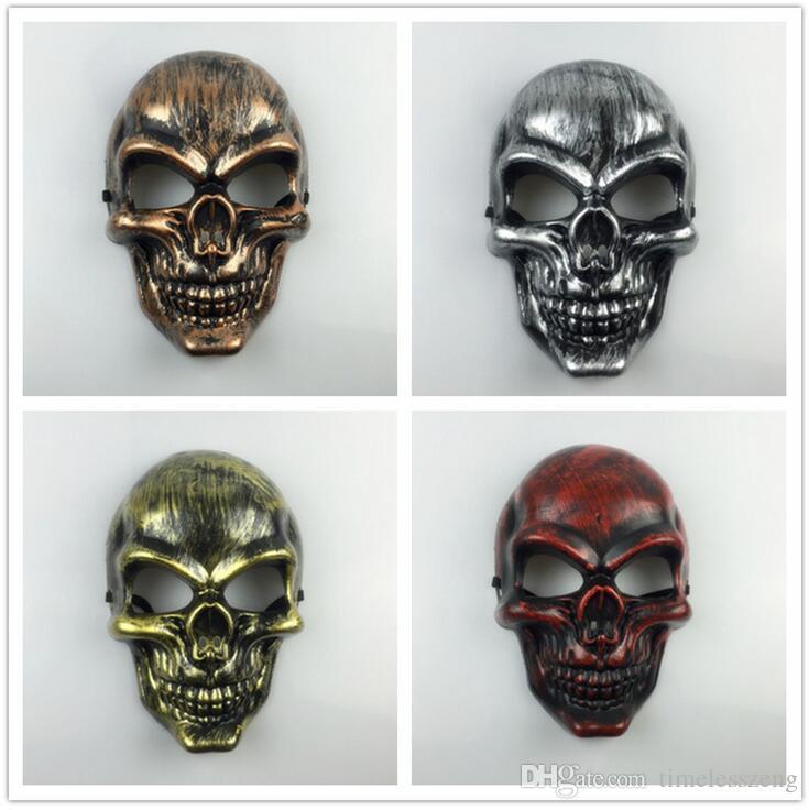 Plastic Horror Skeleton Warrior Mask Full Face CS Ghost