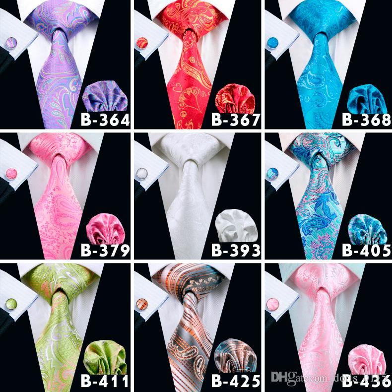 Men Paisley Fashion Neck Ties Silk Mix Jacquard Necktie High Quality Floral Mens Yam Dyed Classic Length Ties