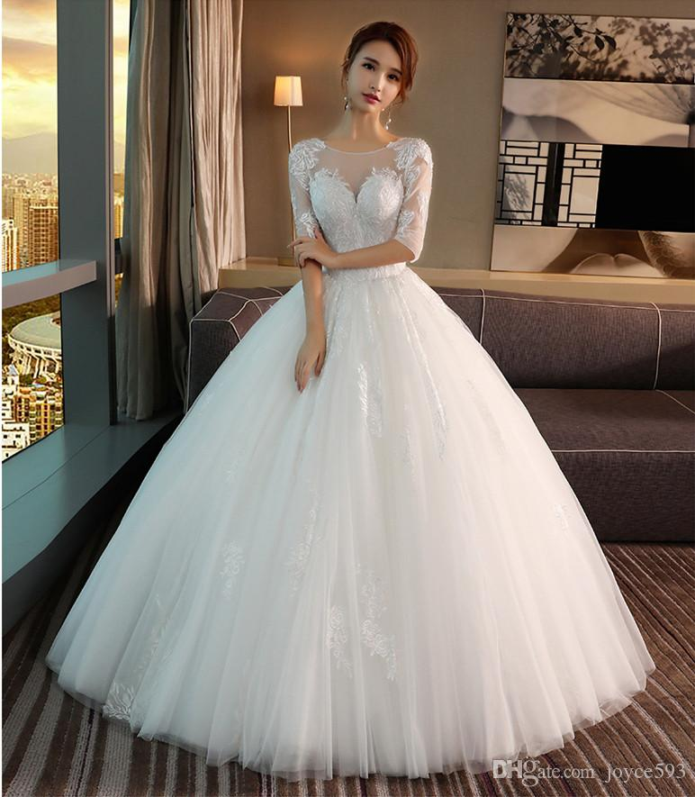 Grosshandel Hochzeitskleid 2017 Neue Elegante Perspektive Spitze