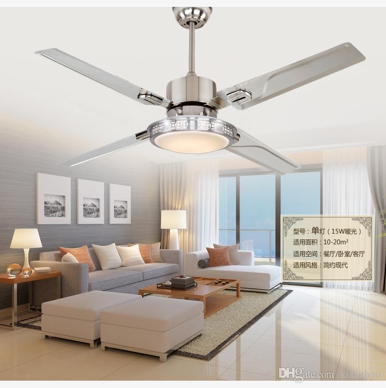 Best led ceiling fan lights restaurant bedrooms modern fan lamps best led ceiling fan lights restaurant bedrooms modern fan lamps ceiling fans remote control simple fashion stainless iron leaves under 28744 dhgate mozeypictures Images