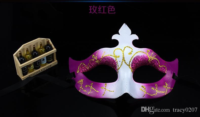 2016 Moda Kadınlar Seksi maske Yortusu Venedik göz maskesi Altın tozu ile masquerade maskeleri Paskalya maske dans parti tatil maske damla nakliye