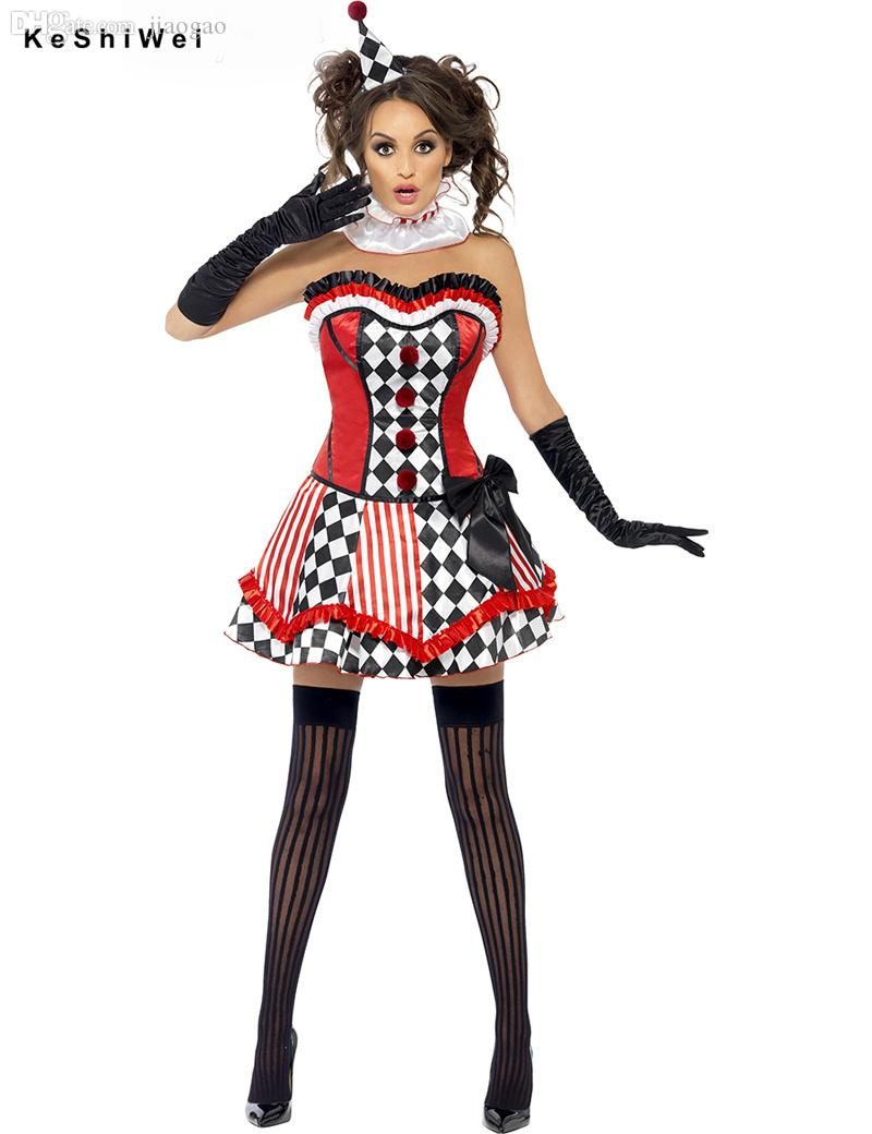 Wholesale Harley Quinn Costume For Women Sexy Tee