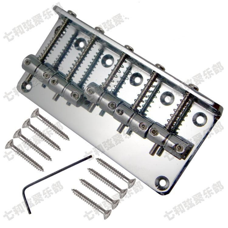 Silver iron bass Electric guitar Bridge 5 bass strings Guitar Parts accessories