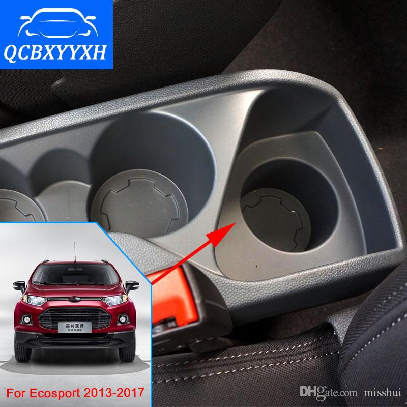 Для Ford Ecosport 2013-2017 подлокотник центр коробка для хранения черный серый кремовый цвет ABS кожа с кубок победитель пепельница аксессуар