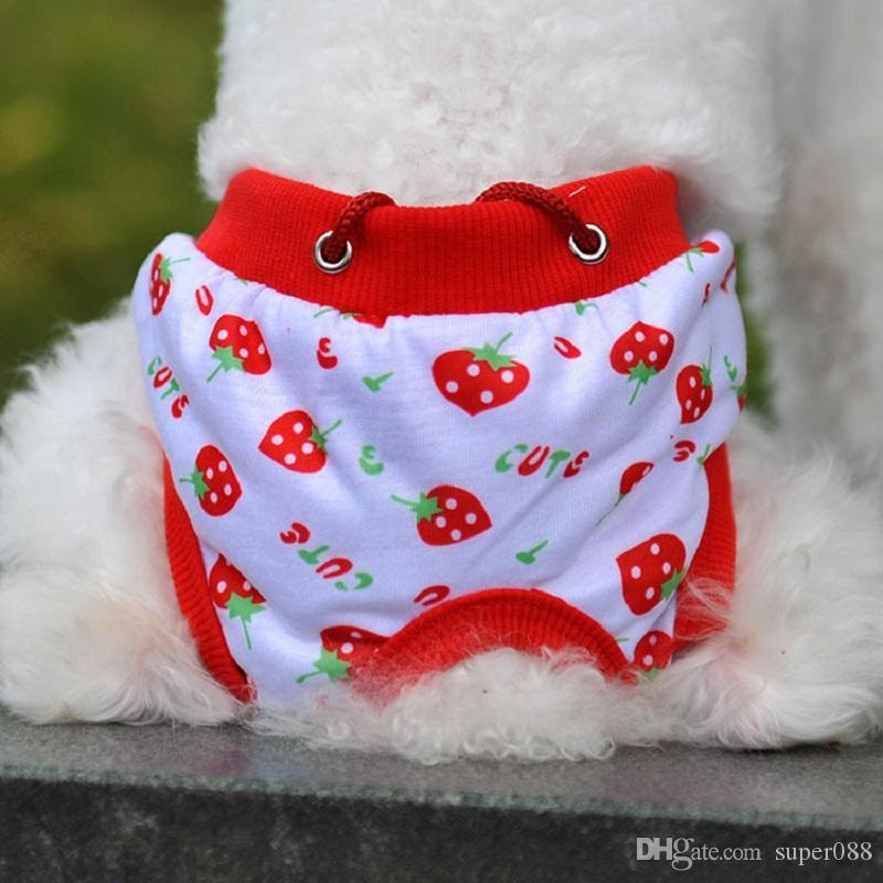 Fashion Kawaii Pet Puppy Cotton Tighten Strap Briefs Sanitary Pet Dog Underwear Diapers Physiological Pants Shipping