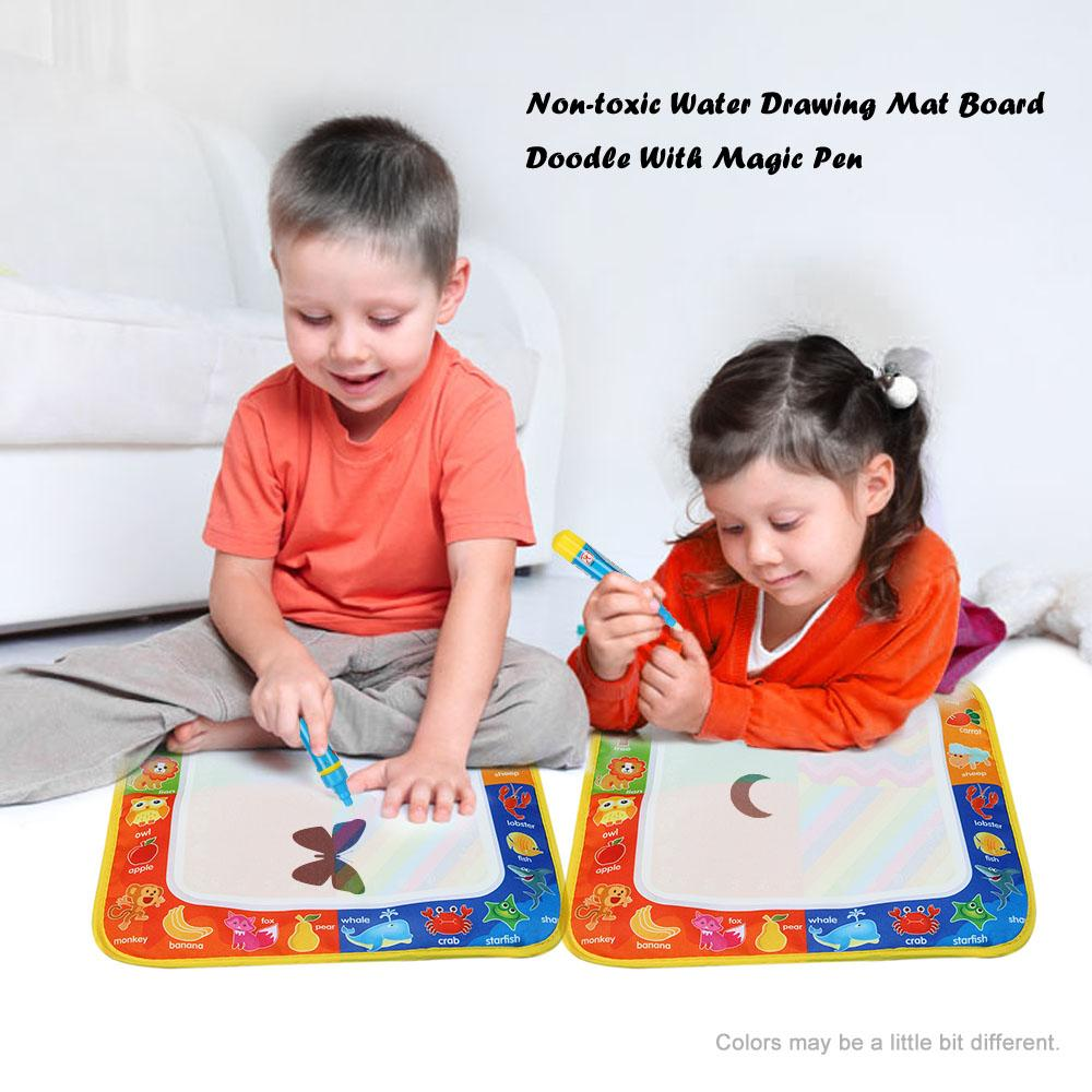 New Drawing Toys Water Drawing Mat 29 * 30 CM Board Painting and Writing Doodle With Magic Pen Non-toxic Drawing Board for Kids