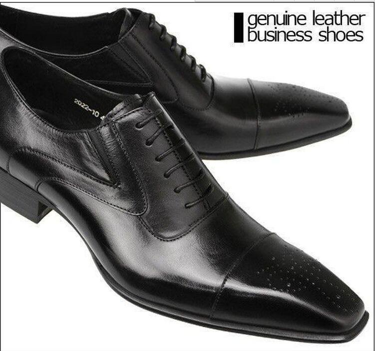 Mens black dress shoes style