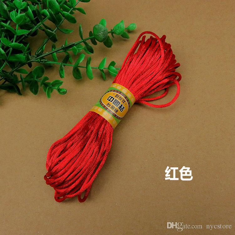 New Arrivals 2.5mm 20 Meters sheaf Chinese Knot Cord Rattail Satin Braided String Jewelry Findings Beading Rope