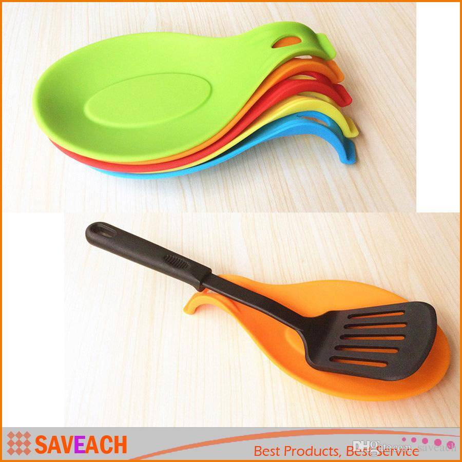 Hot Sell - Multi Color Kitchen Heat Resistant Silicone Spoon Rest ...