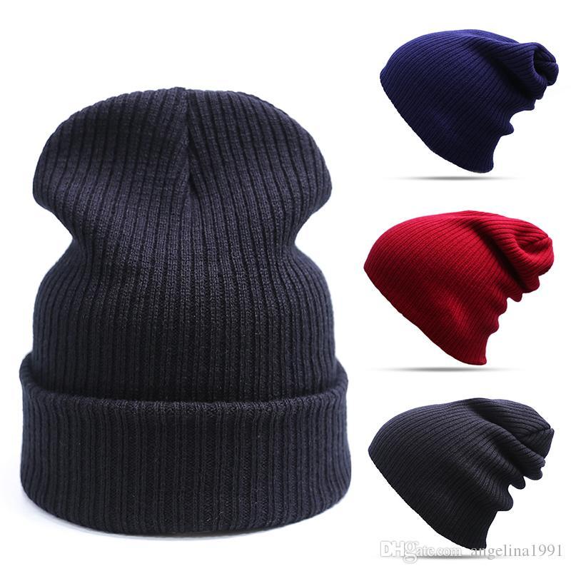 Compre Evrfelan Moda Sombrero De Invierno Para Las Mujeres   Hombre Gorra  De Cráneo Beanies Hombre Sombrero Gorros Gorro Simple Sombrero Caliente  Touca ... 1cc050eb311