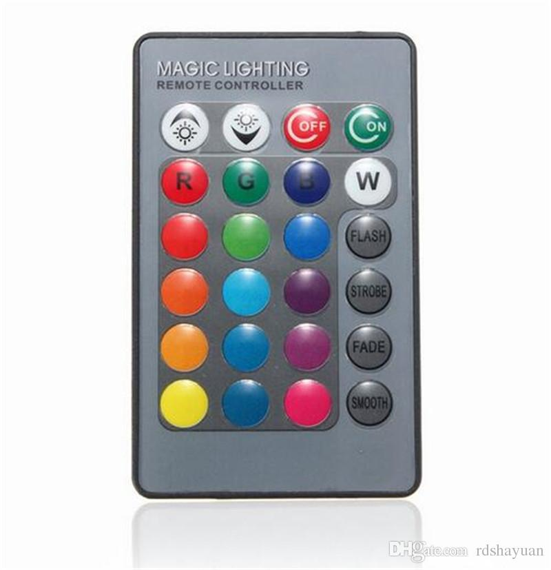 Mini 24 Keys RGB IR Wireless Remote Controller For Globe Bulbs RGB Light Lamp LED Strip Lights Without Battery
