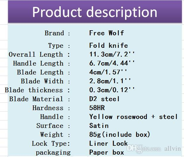 China Brand Small Pocket Folding Knife 8Cr13 Satin Blade Rosewood Handle EDC Pocket Knives Gift Knife Liner Lock