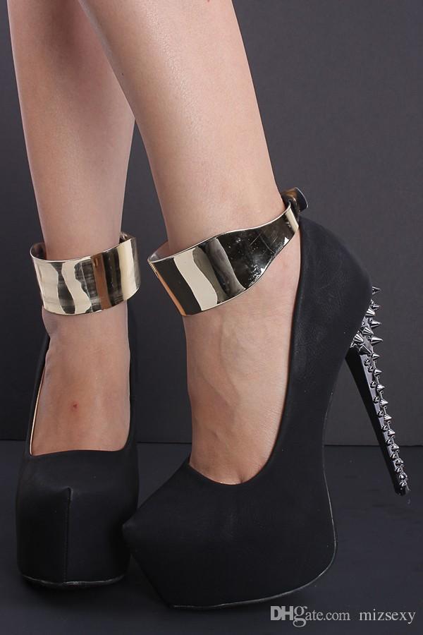 2017 new fashion black heels rivets ankle strap sapatos melissa sandalia high heels stiletto heels platform women pumps party shoes