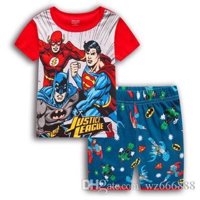 7da641aeafe2d Acheter Enfants Pyjamas Enfants D été Pijamas Enfants Filles Pyjamas Bébé  Mignon Imprimer Coton À Manches Courtes Vêtements De Nuit Ensemble De  Chemise De ...