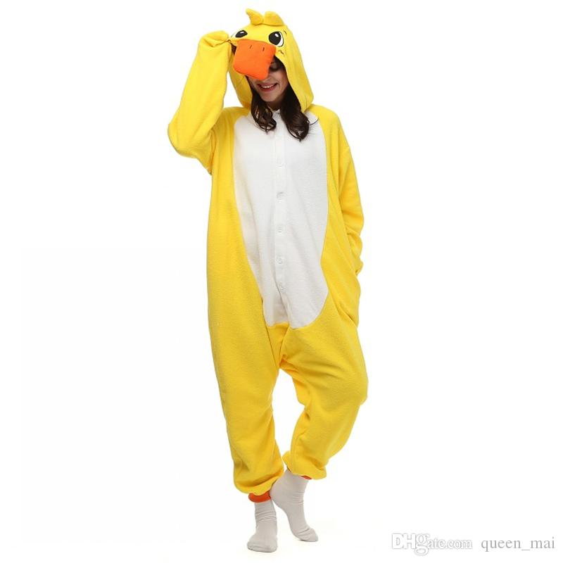 6838de9927db Halloween Party Costume Cute Lovely Yellow Duck Onesie Pajamas ...