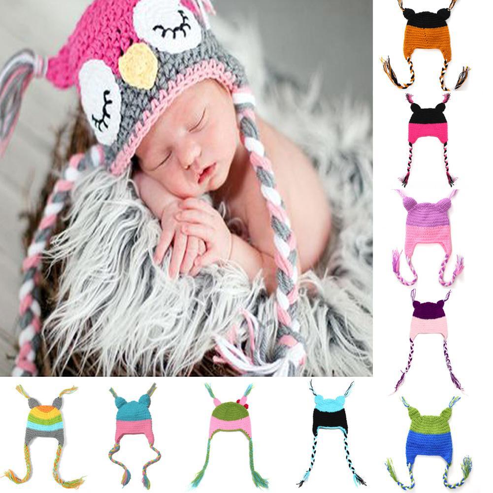 59c3e951c4d New Cute Baby Hat Winter Crochet Custom Handmade Knitted Infant ...