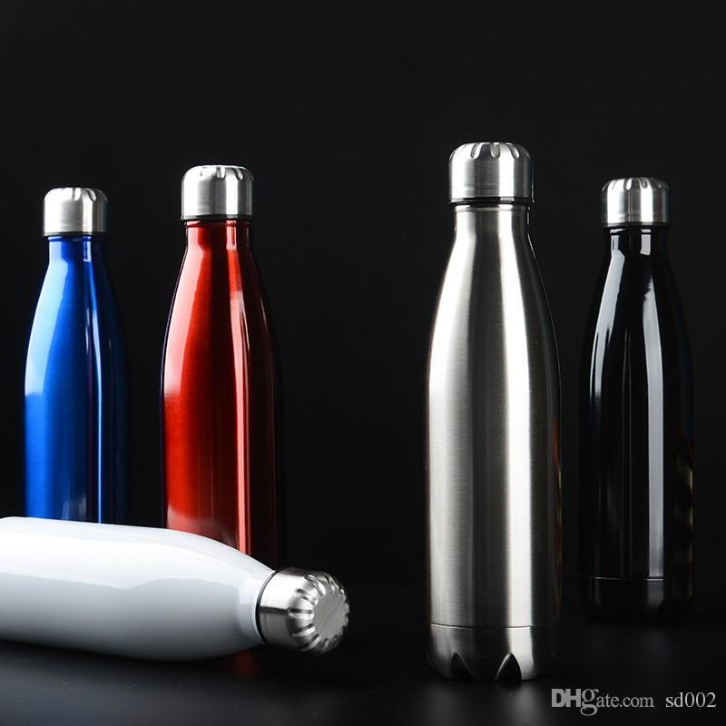 Stainless Steel Cola Bottle Vacuum Cup For Men And Women Outdoor Sport  Portable Drinking Tool Multi Colors 19yb C R Large Reusable Water Bottles  Large Water ... e4b43731a