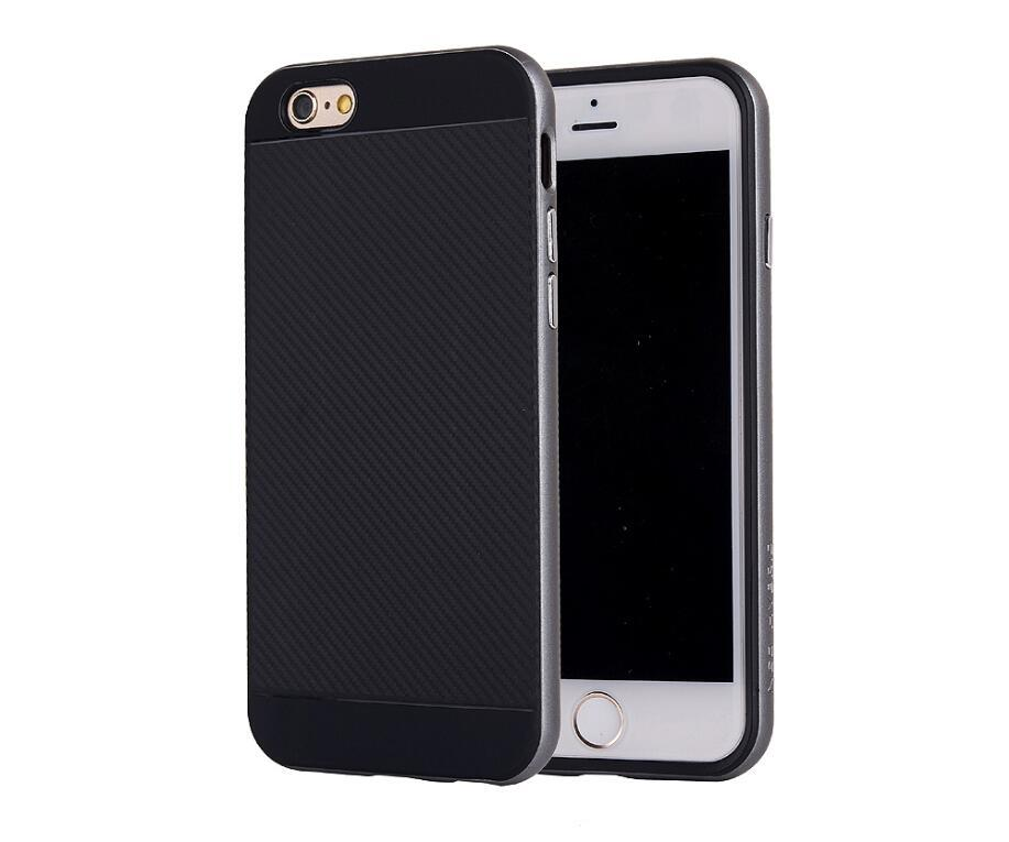 For iphone 7 6 6s plus Rugged hybrid Fiber Textured Flexible bumper +TPU Case for Samsung Galaxy S7 S6 EDGE