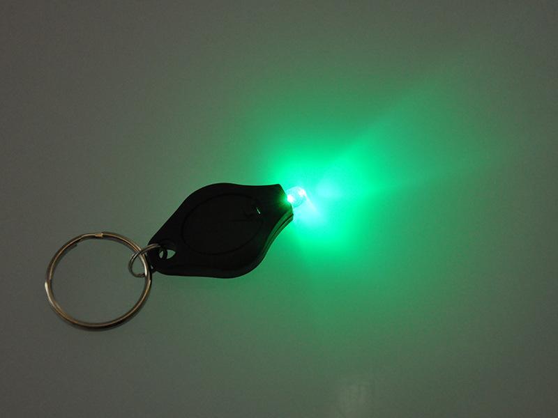 Free DHL LED Keychain Flashlight Mini Torch Key Chain Key Ring White Green LED Lights UV LED Bulbs Ton II Photon 2 Mini Light 7E
