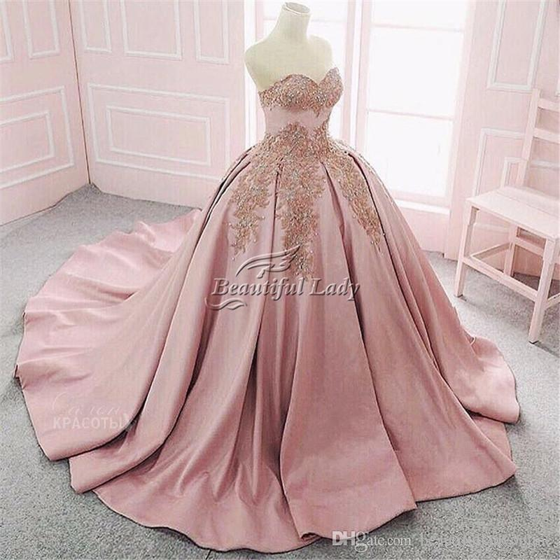 Puffy Ball Gown Formal Prom Dresses 2017 Sweetheart Lace Up Back ...