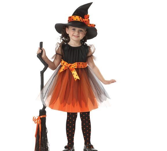 new childrens halloween costumes cosplay party witch performance costume witch princess dress kids girls costumes role play best group halloween costumes