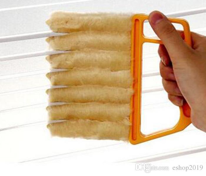 Di trasporto verticale dei ciechi di finestra Brush Cleaner mini 7 Forma Hand Held famiglie spazzola magica della novità
