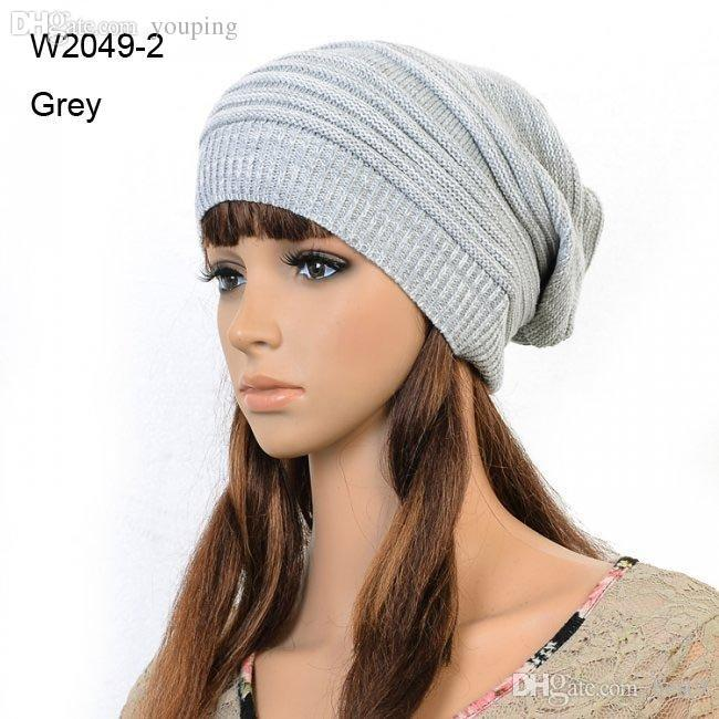 Wholesale Retail Winter Mens Knit Caps Women Knitted Slouch Beanie