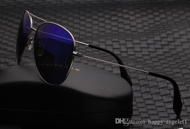 Nuevo Venta caliente Victoria Beckham Mujeres Hombres Gafas de sol Recubrimiento Marca VB Gafas de sol Ojo Vidrio Polaroid Lentes grandes con estuche