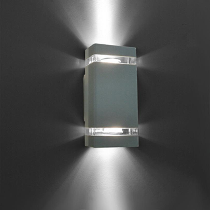 8W GU10 Outdoor Wall Light /porch Lights/Alumunim Up And Down Wall L&s Waterproof Outdoor Sconces IP65 Black/Gray/White Led Wall L& Exterior Lighting ... & 8W GU10 Outdoor Wall Light /porch Lights/Alumunim Up And Down Wall ...