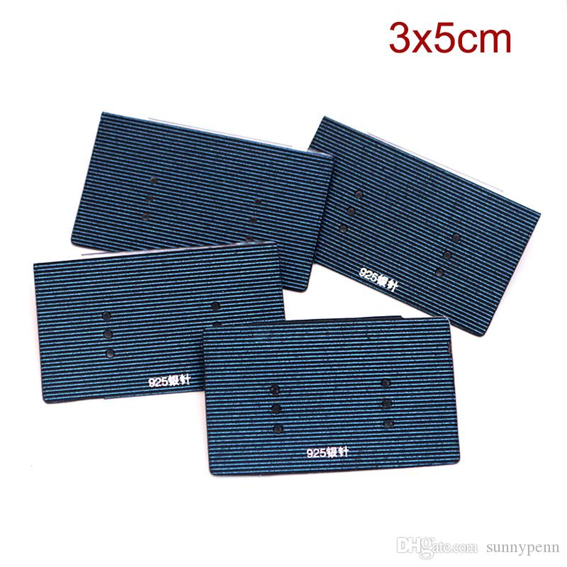 Wholesale Dark Blue Plastic PVC Stick Paper Jewelry Card Hanging Earring Tags Fit Fashion Stud Earring Display Packaging