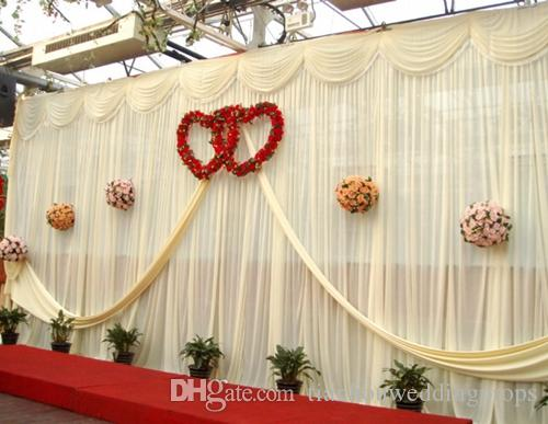 Wedding 3mx6m Backdrop Purple Stage Background With Beautiful Swag