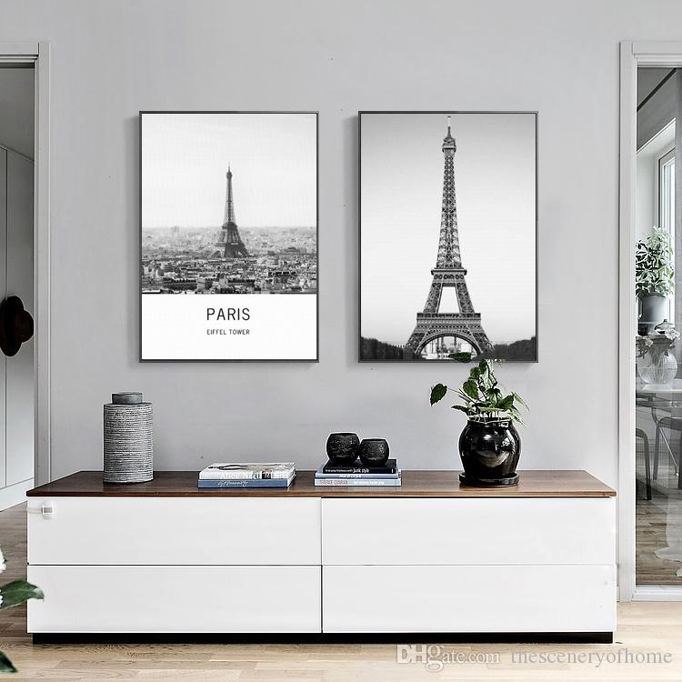 Exceptionnel 2018 Special Offer Simple 2 Paintings Of Black And White Eiffel Tower  Furniture Decorative Painting Fashion Mural Art From Thesceneryofhome,  $7.27 | Dhgate.