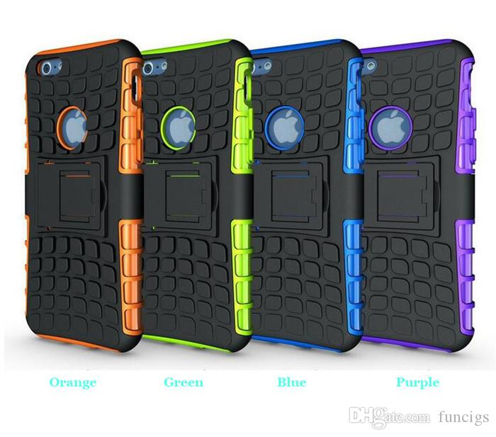 Cheap OEM cell phone case for iPhone 6/6s ultra slim Tire armor case with stand mobile phone cover case