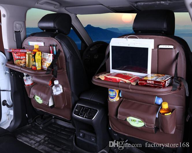2019 Newest Luxury Full Leather Car Seat Back Organizer Multi