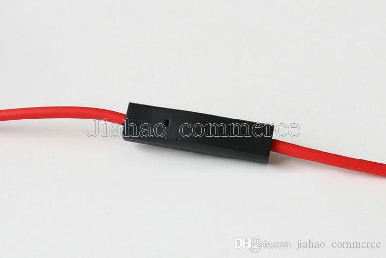 Yeni 3.5mm Kontrol Konuşma ile Stüdyo Heaphones için Kırmızı Kablolar ve MIC L Fiş Uzatma Ses AUX Kablosu SOLO
