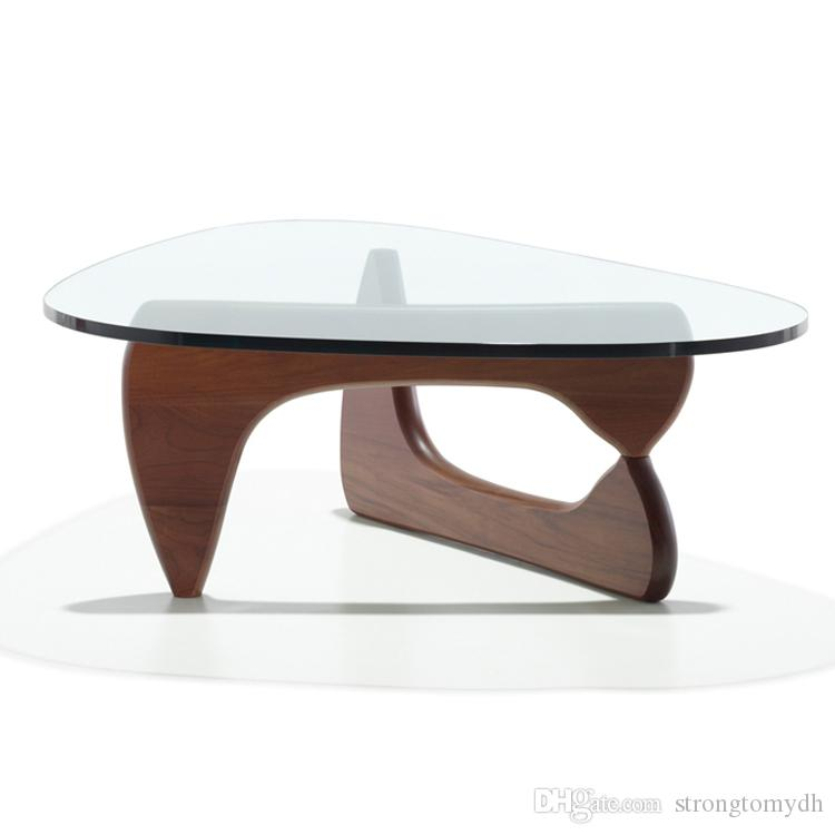 isamu noguchi coffee table wooden leg 19mm tempered glass top coffee table japanese solid wood coffee table glass coffee table coffee table from