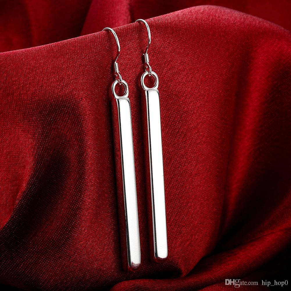 Geometric Modeling 925 Silver Earring Dangle & Chandelier Stick Earring Fashion High Quality Jewelry Party Accessories Gift For Women